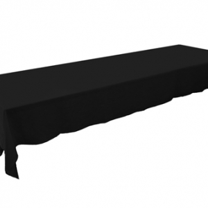 BLACK  TRESTLE TABLE CLOTH