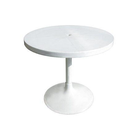 80cm round plastic pedestal table for hire