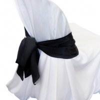 black chair sash for hire sydney linen hire wedding hire