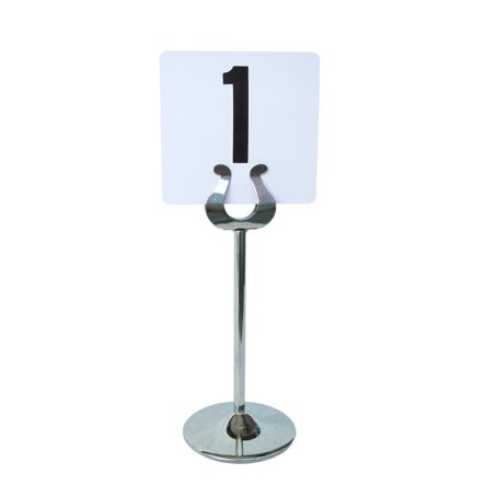 chrome table stand with number for hire