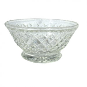 GLASS SUGAR BOWL