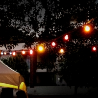 festoon lighting for hire coloured bulb globs party lights for hire