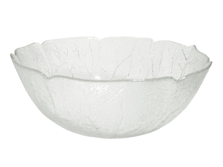 GLASS SALAD BOWL LARGE
