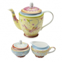 high tea teapot set for hire sydney northern beaches north shore eastern suburbs kitchen tea hire - yellow
