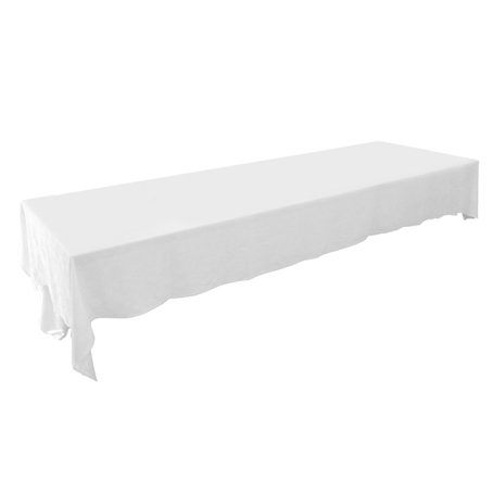 long white trestle table cloth for hire sydney