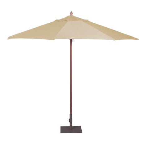 market umbrella wedding cream white natural for hire
