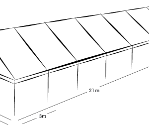 6m x 21m MARQUEE - WHITE ROOF