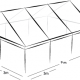 6m x 9m MARQUEE - CLEAR ROOF