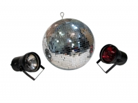 MIRROR BALL AND SPOT LIGHTS