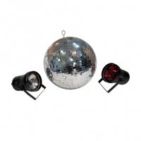 mirror ball and pin spots lights for hire sydney