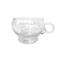 Punch cup clear glass for hire