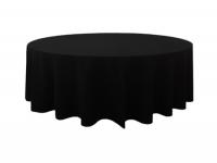 230cm ROUND BLACK TABLE CLOTH