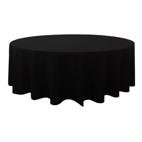 round black table cloth for hire 300cm