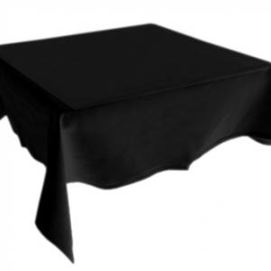 224cm SQUARE TABLE CLOTH BLK